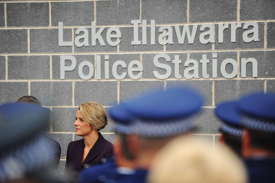 Former NSW Premier Kristina Keneally at the opening of the new Lake Illawarra Police Station