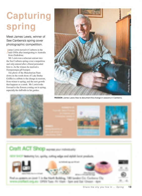 See Canberra Magazine, Spring 2009