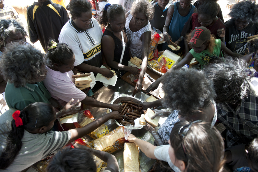 Aboriginal bones are returned to their homeland after being stolen 50 years ago, and a traditional ceremony is held to mark the occasion in Oenpelli, NT, July 2011.
